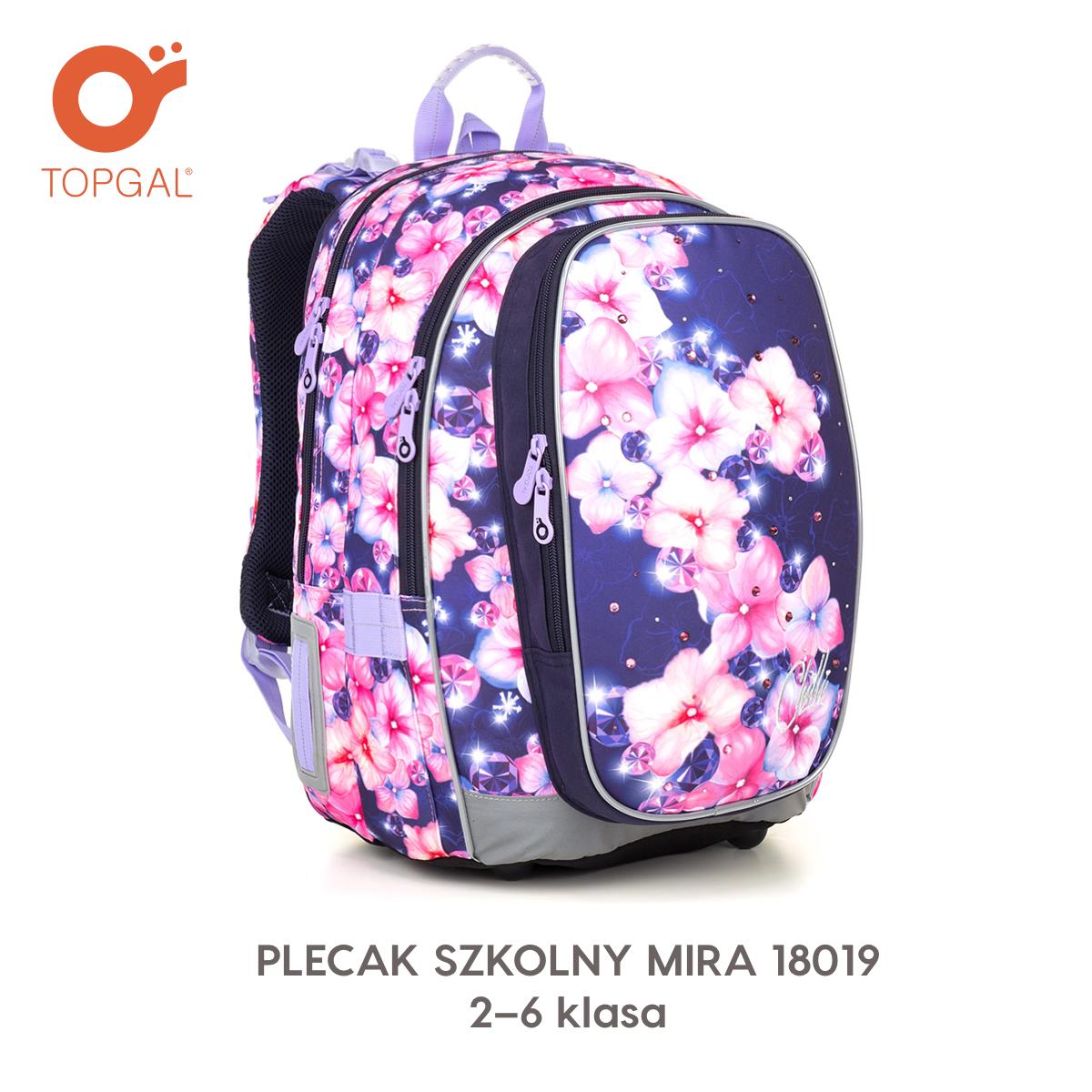 5e2125e9c1349 Plecak Topgal z kwiatami i cyrkoniami.