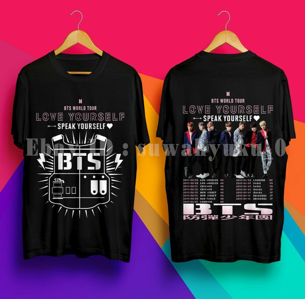 af96ab8d BTS Love Yourself Speak Yourself World Tour 2019 Black TShirt #fashion # clothing #shoes #accessories #mensclothing #shirts (ebay link)