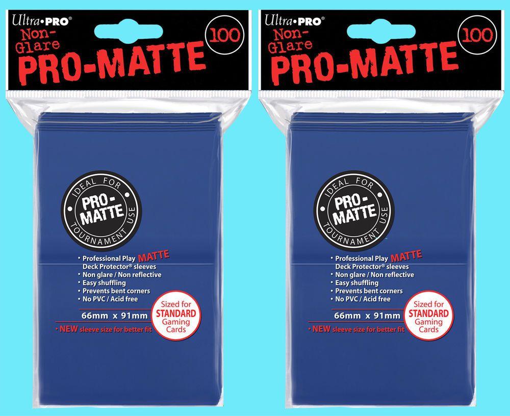 200 Ultra Pro Deck Protector Card Sleeves Pro Matte White Standard Magic Pokemon