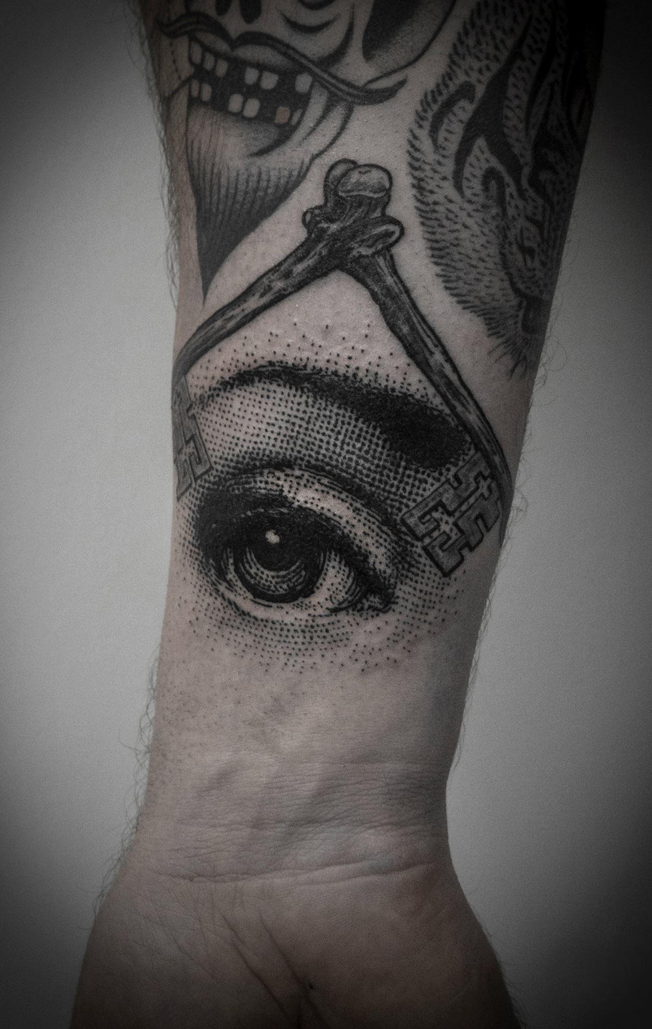 by Ien Levin All seeing eye tattoo, Eye tattoo, Tattoos
