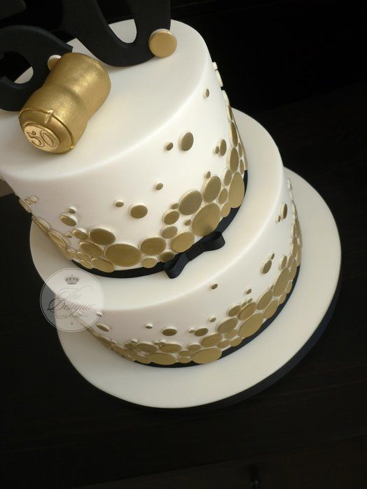 White Black Gold 50th Birthday Cake Google Search With Images