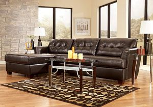 Dixon Durablend Chocolate Chaise Sectional Category Living Room