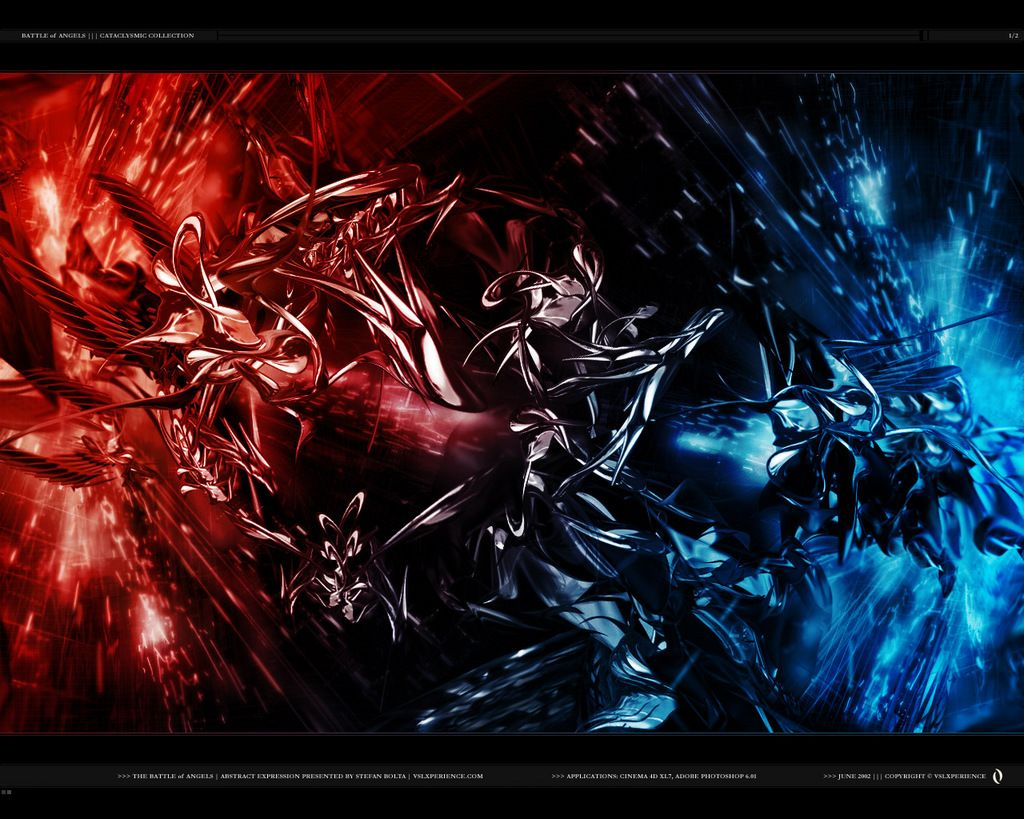 Blue Red Abstract Design HD Wallpaper (2155) Buubi