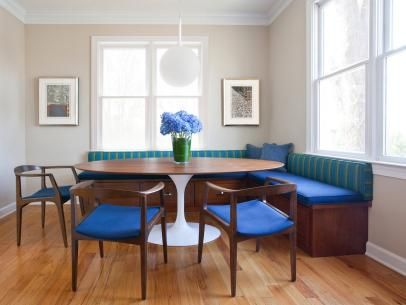 Breakfast Nook With Midcentury Modern Banquette Dining Nook