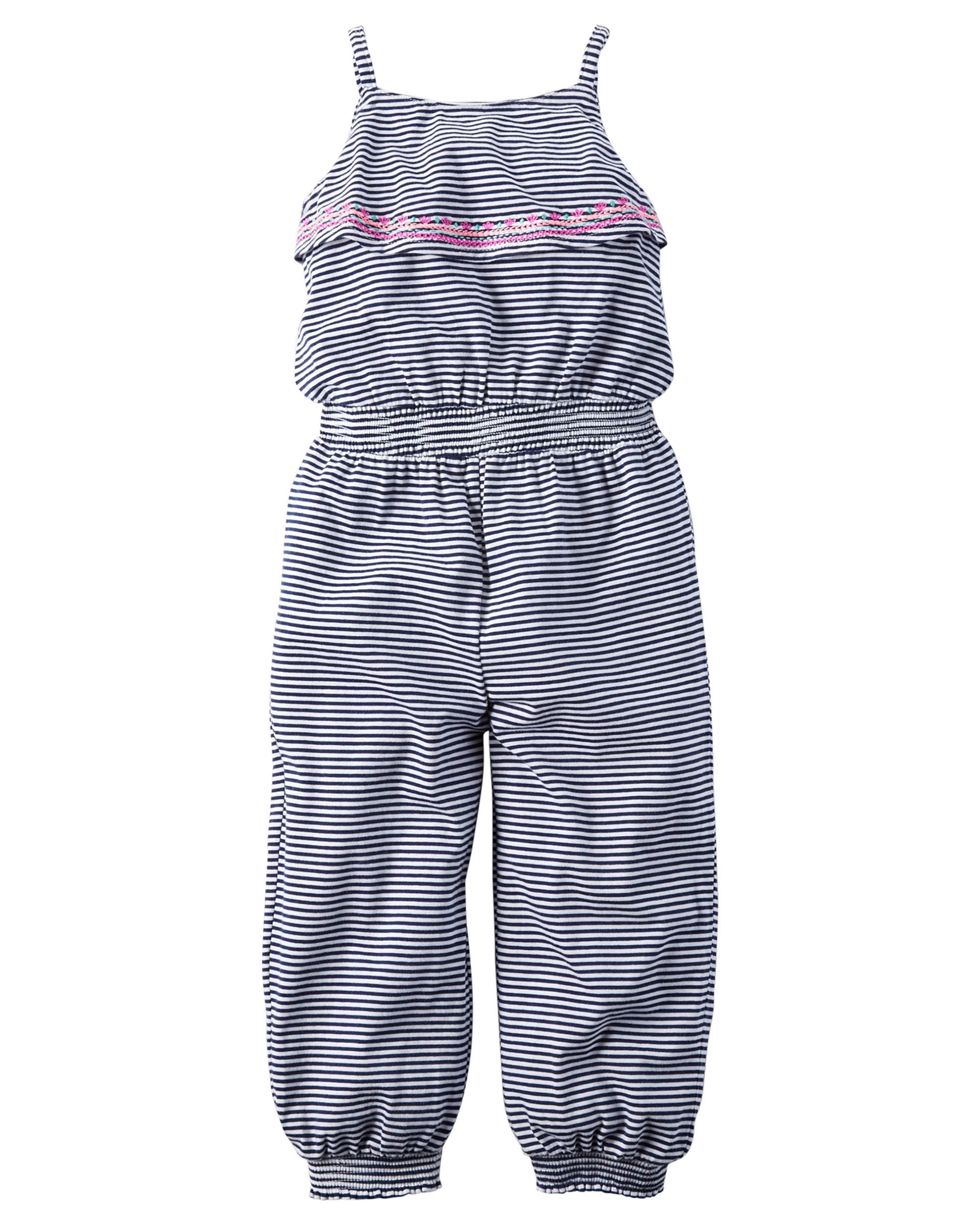 fd889e49f Baby Girl Embroidered Jersey Jumpsuit