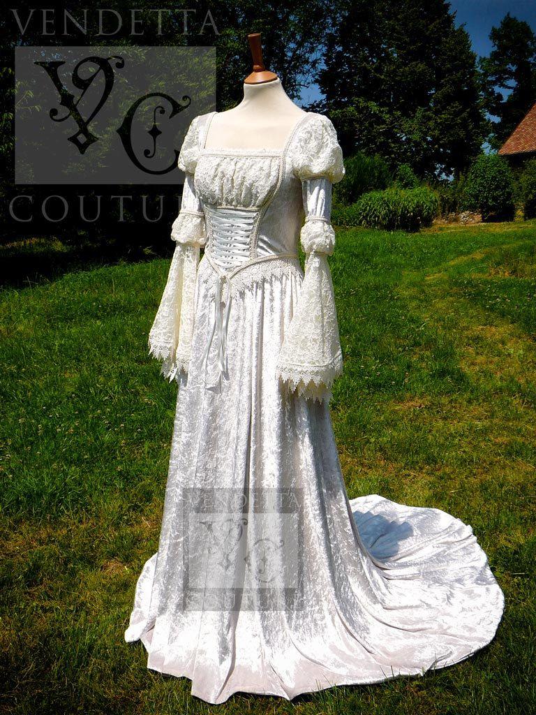 SALE* Romantic Renaissance Fairytale Wedding Gown Ooak US6
