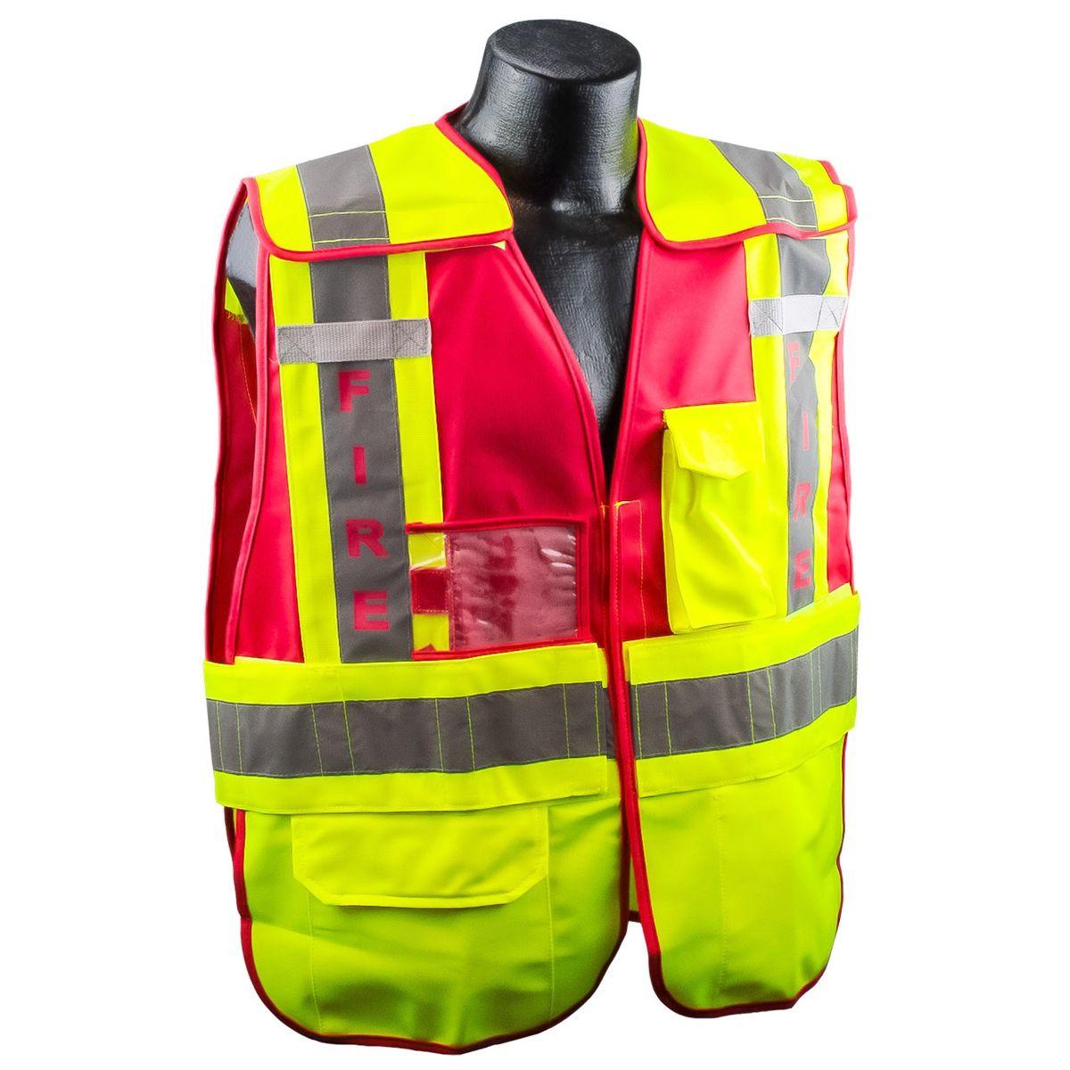 Fire type p class 2 public safety vest lime red vest