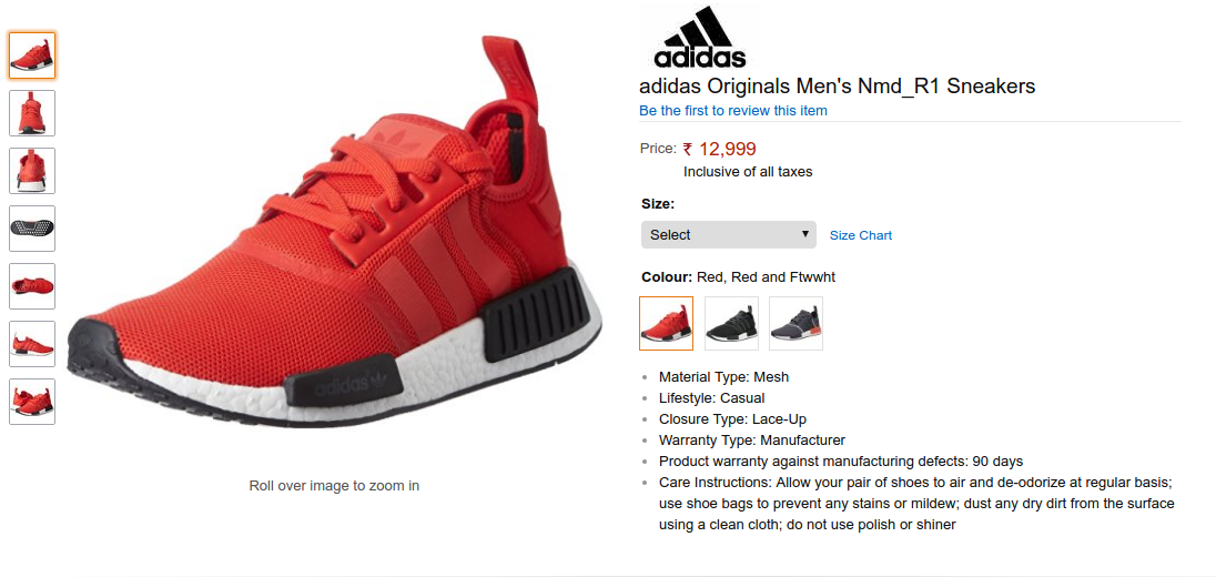 1453407f46dd Buy Adidas NMD R1 Sneakers in India online on Amazon. Check out the  Current… Nmd