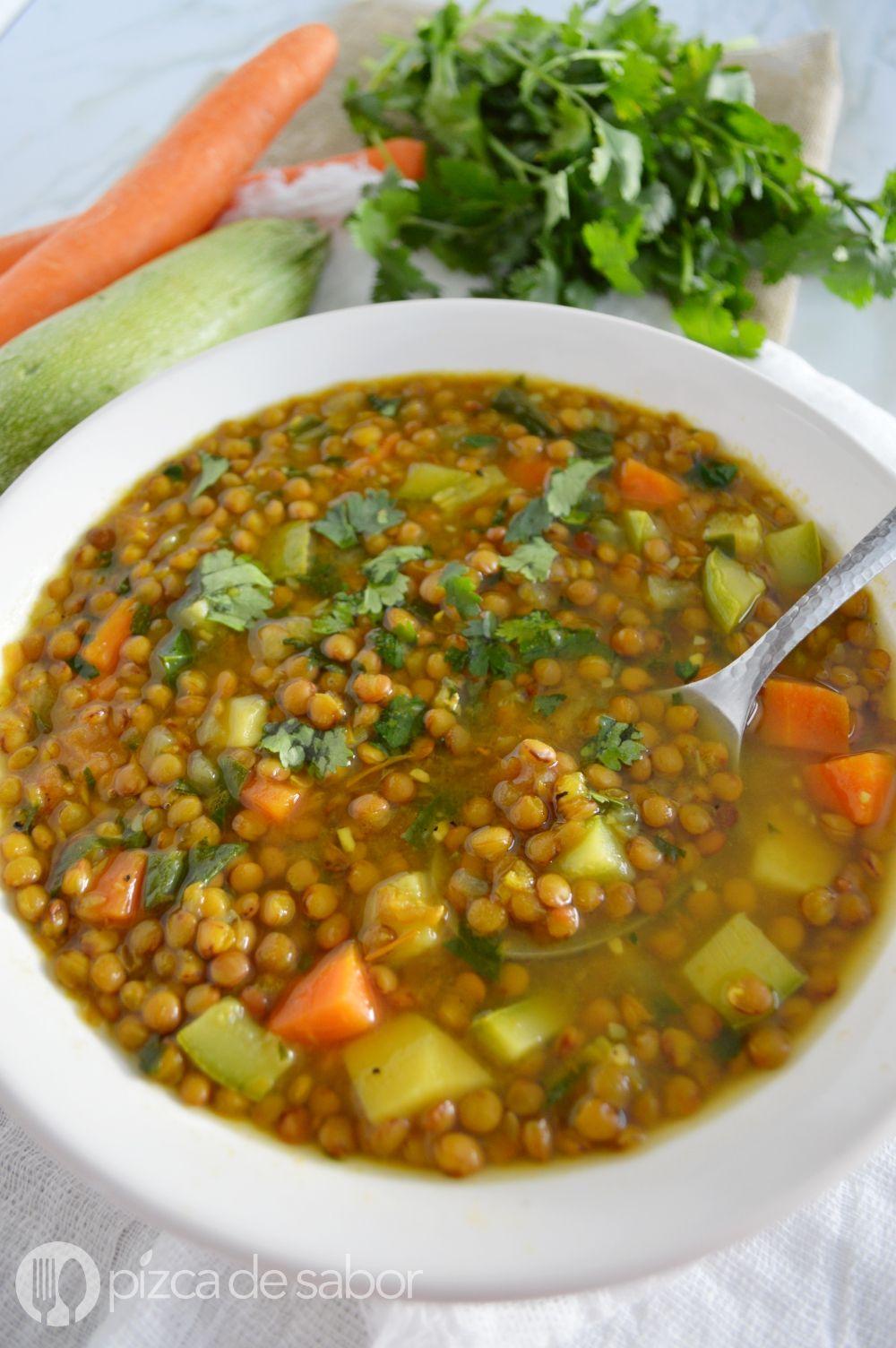 Como Cocinar Lentejas Con Verduras   Sopa De Lentejas Con Verduras Curcuma Receta Salud Food