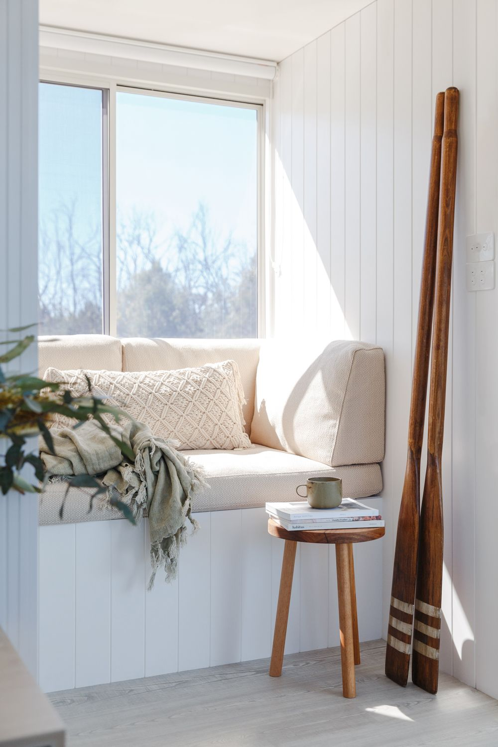 Window nook ideas  life in this renovated houseboat would be but a dream  reading