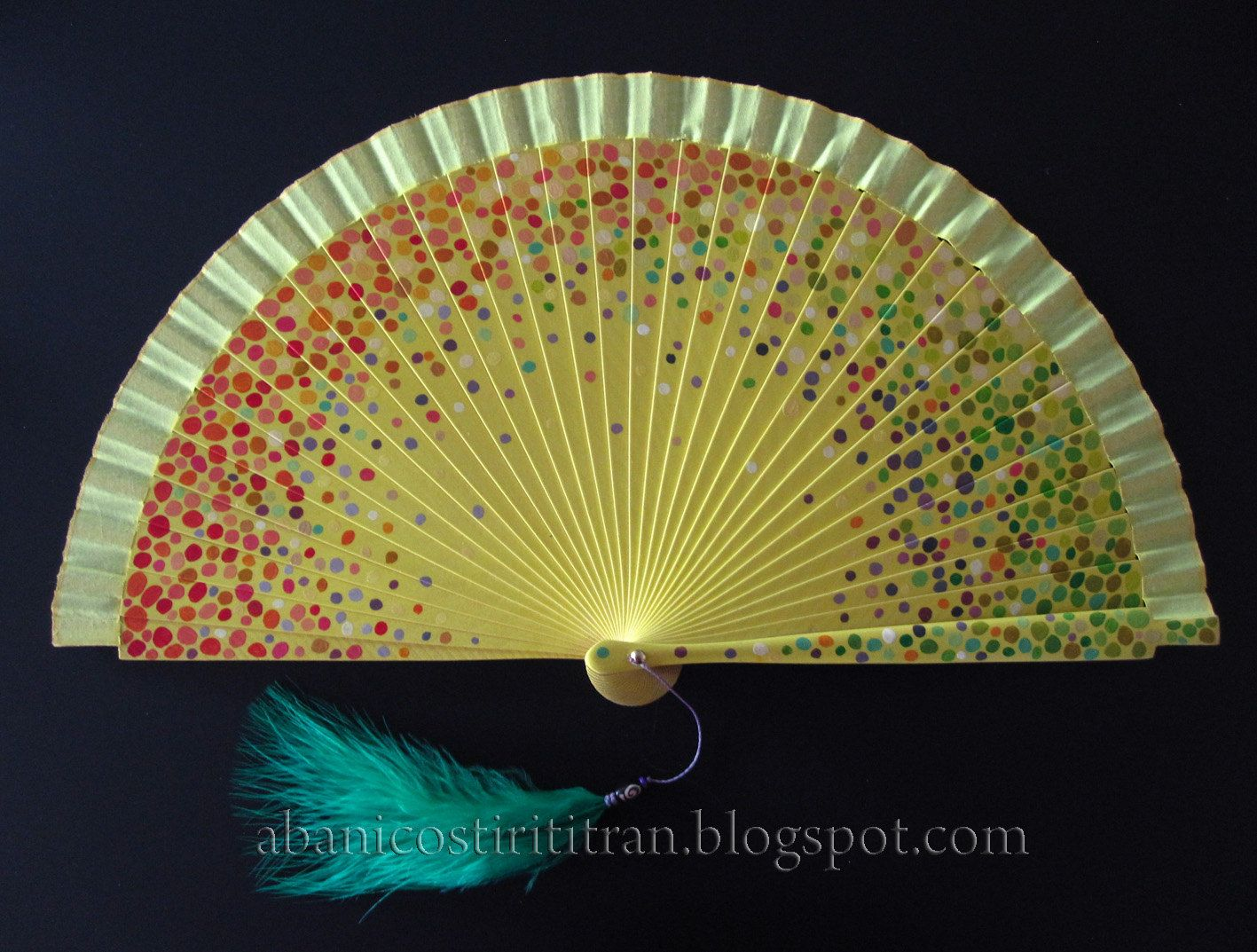 Antique Hand Held Fan Celluloid Hand Painted Silk in Frame - C ...