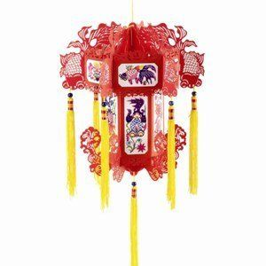 Paper Cut Paper Lanterns - Select Style by Terrific Finds. $20.00. Elaborate lantern traditionally hung during the New Year in China and the Lantern Festival. Paper lanterns cut and shaped into the Chinese symbols of the Dragon and the Phoenix or Floral & Fish - comes in a set of 2. 7 x 9