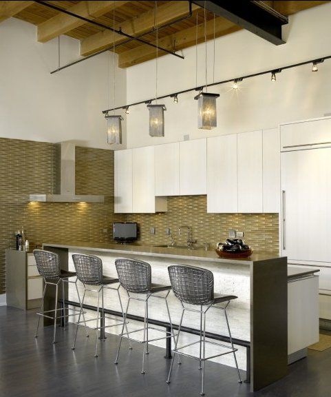 Love Those Clean Cabinets And Concrete Grey Counters