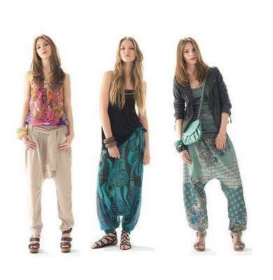 Style Pantalon Bombacho Mujer Pantalones Cagados Pantalones Hippies Mujer