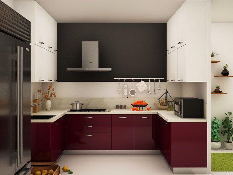 Campanella U-shaped Modular Kitchen Designs India ...