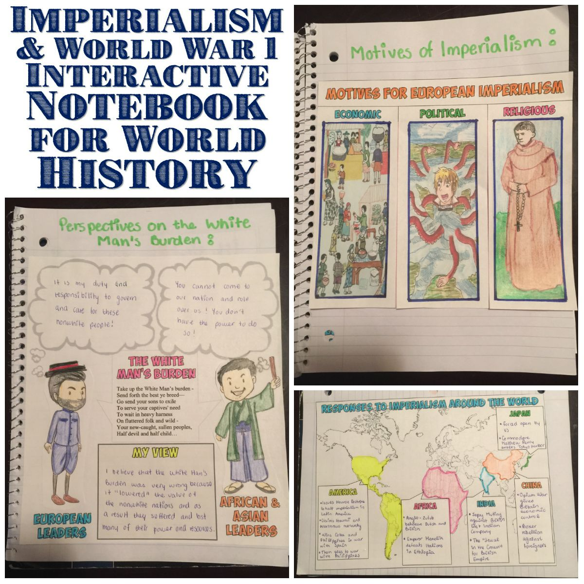 cold war map activity activities keys and war imperialism and world war 1 interactive notebook pages
