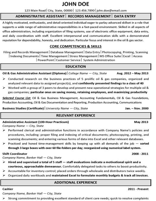 17 Best Images About Best Administration Resume Templates