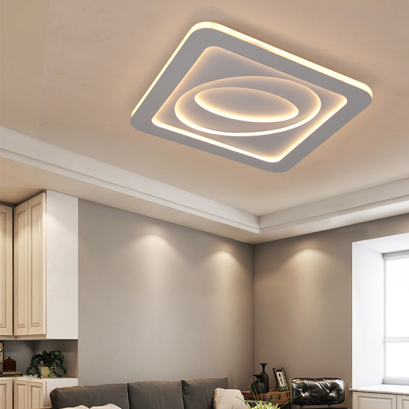 Modern Led Flush Mount Irregular Shape Lamp Acrylic Ceiling Light