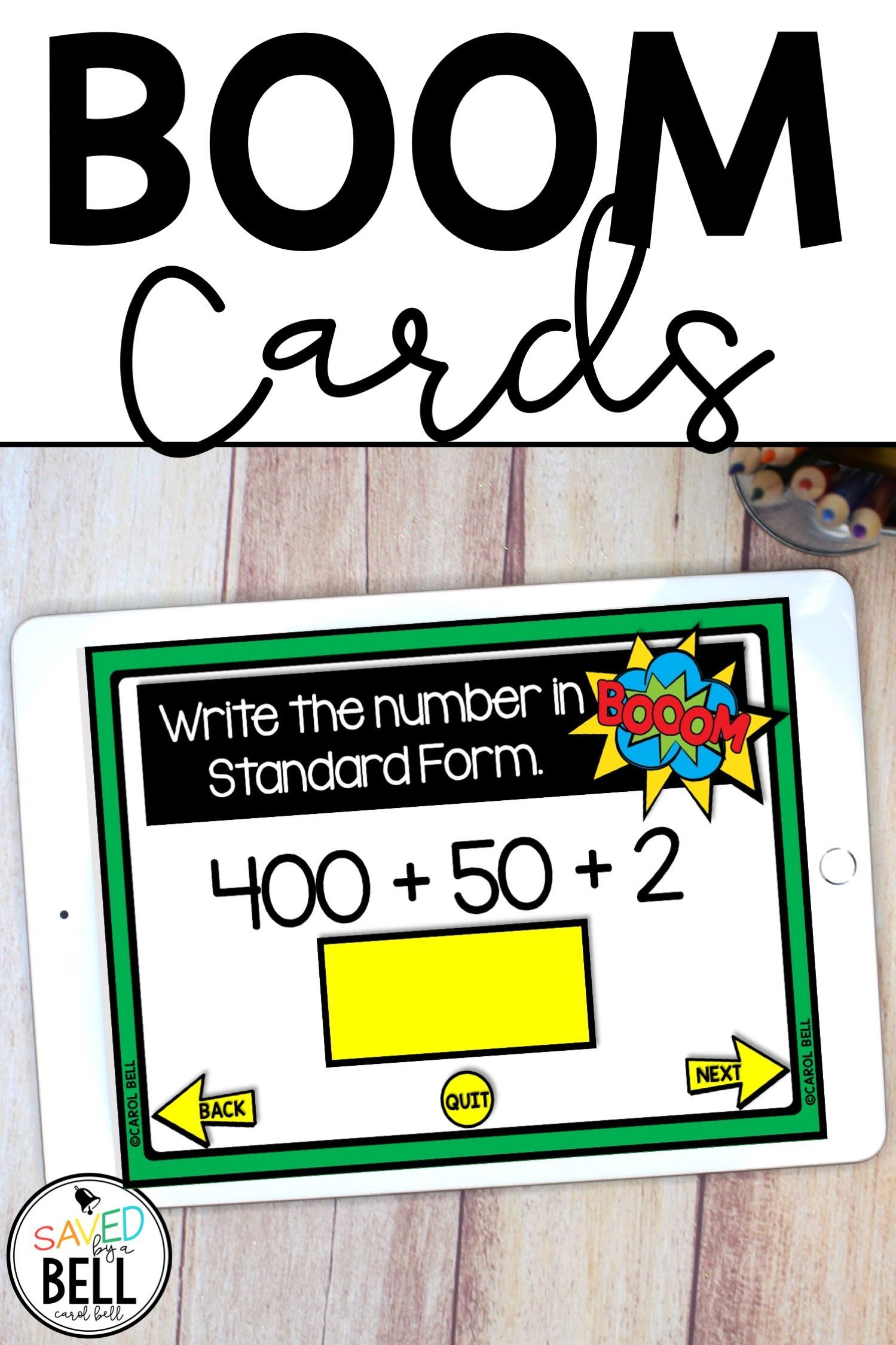 Boom Cards Place Value Standard Form Numbers In Standard Form Fun Math Activities Standard Form [ 2249 x 1499 Pixel ]