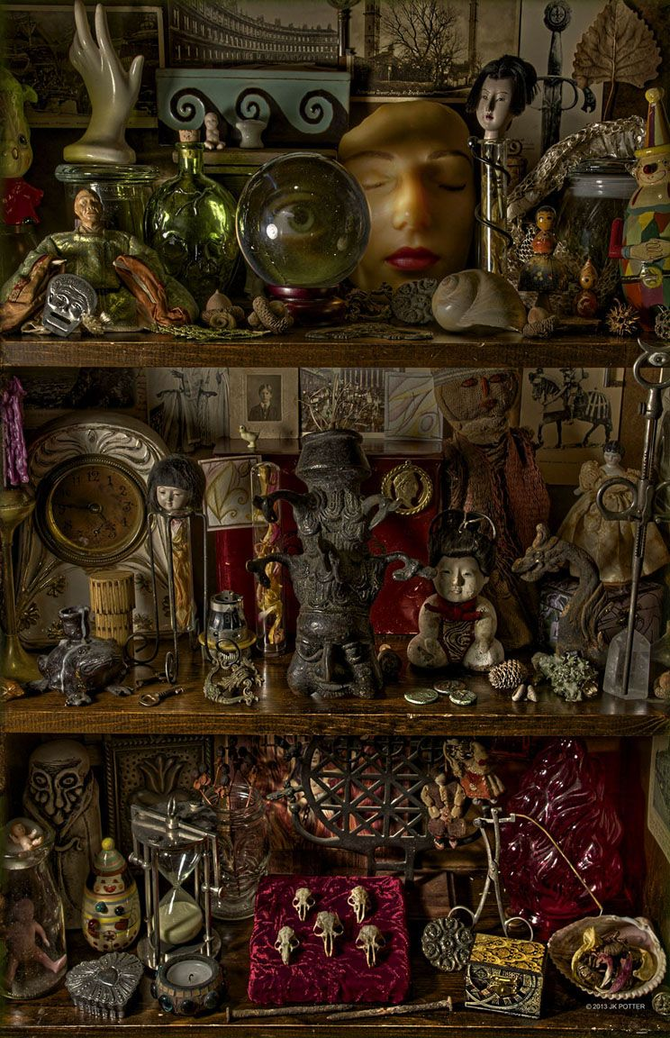 """madamecuratrix: """" jeffknightpotter: """" Photo by Jeff Knight Potter for """"The Best of Kage Baker"""" """" Such an intriguing assortment of curiosities! """""""