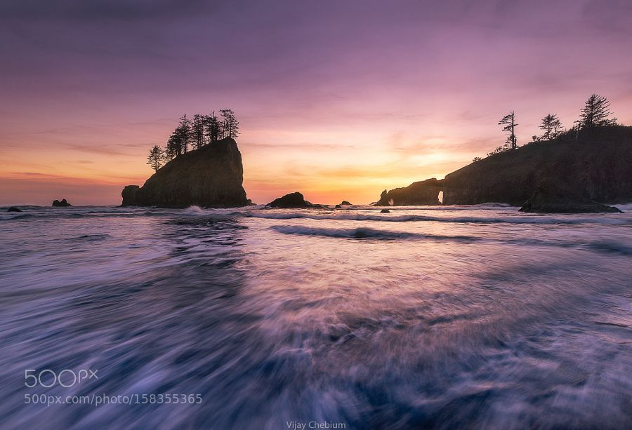 Sunset@second beach by VijayChebium. Please Like http://fb.me/go4photos and Follow @go4fotos Thank You. :-)