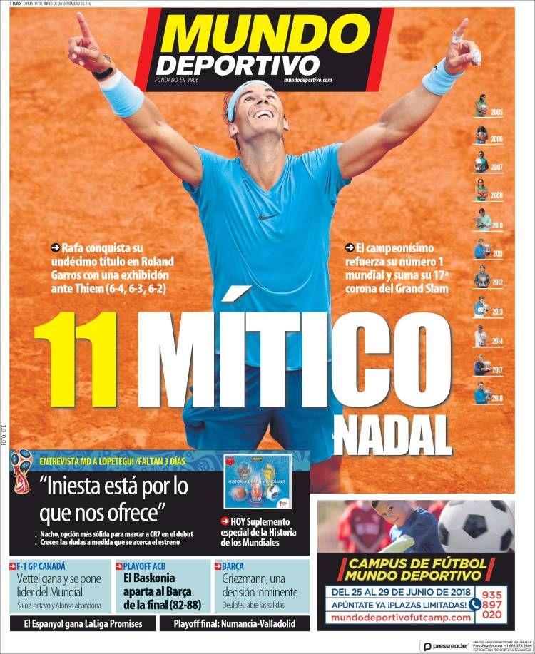 20180611 Portada de El Mundo Deportivo (España) Mundo