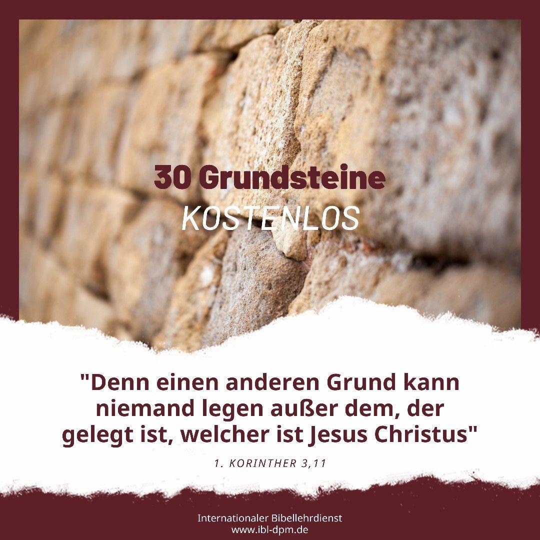 30 Grundsteine Von Derek Prince Bibel Jesus Christus
