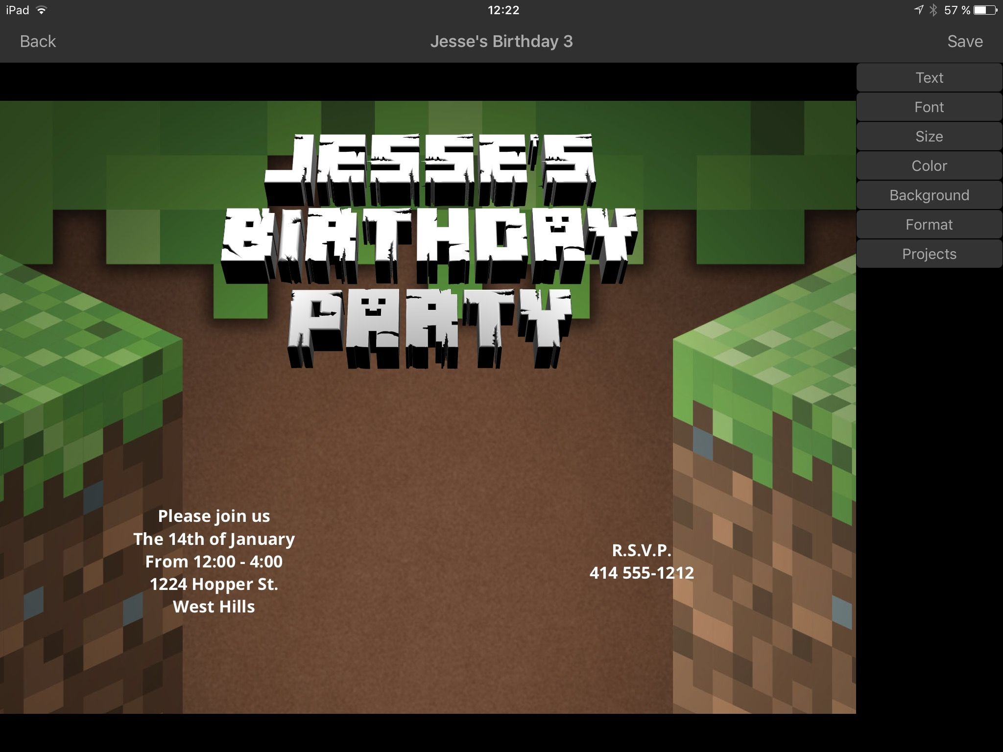 Minecraft invitation maker iphone ipad app 3d invite maker minecraft invitation maker iphone ipad app 3d invite maker stopboris Images