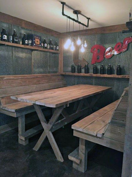 Top 50 Best Garage Bar Ideas - Cool Cantina Workshop Designs #garagemancaves
