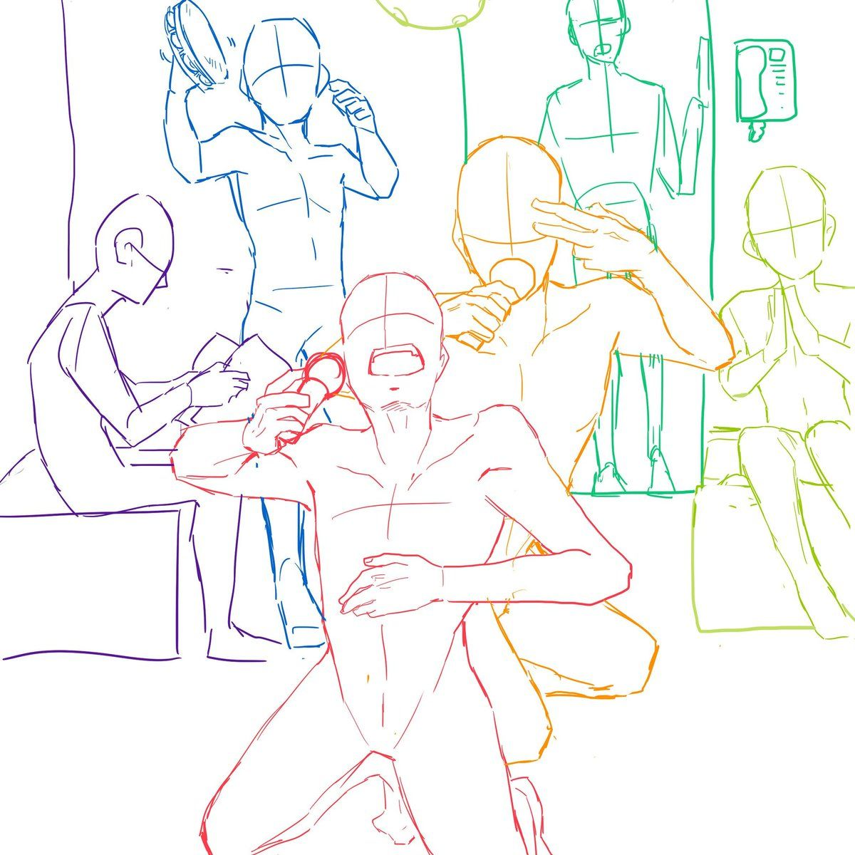 Pin By El Rincon Del Cotorro On Draw In 2020 Anime Poses Reference Drawings Of Friends Art Reference Photos