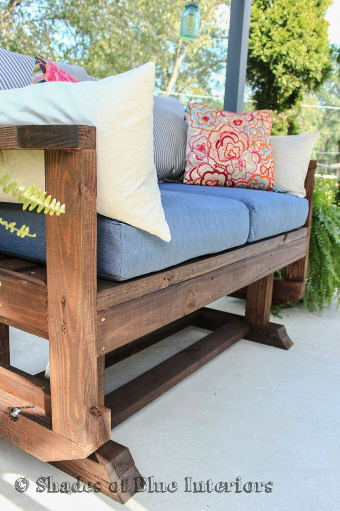 DIY Outdoor Loveseat Glider | Outdoors | DIY Project Ideas | Pinterest