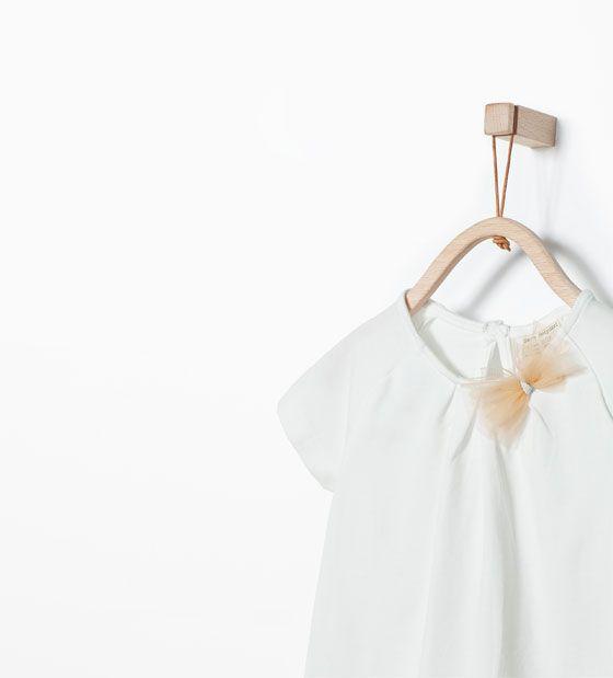 Organic ZARA - KIDS - Bow T-shirt