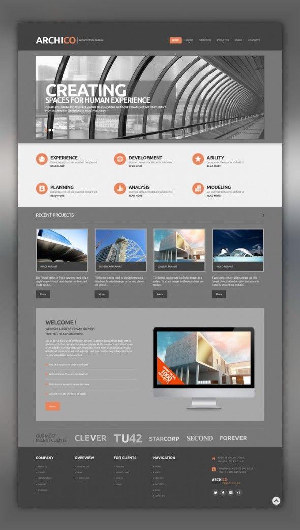 Construction Company Responsive Wordpress Theme Web Design