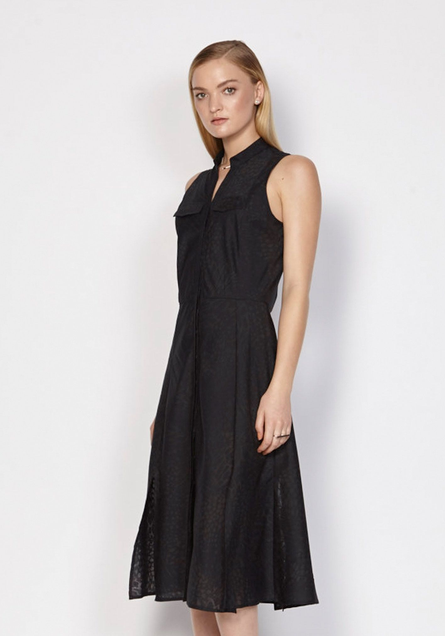 Olivia Voile Burn Out Shirt Dress In Black | Dresses | Shop the latest women's fashion at Oncewas