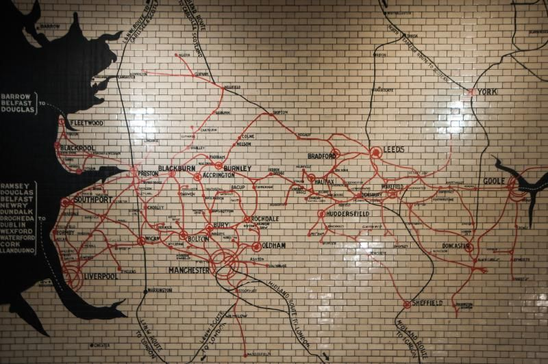 Manchester, Victoria Station : Lancashire and Yorkshire railway map | Flickr - Photo Sharing!