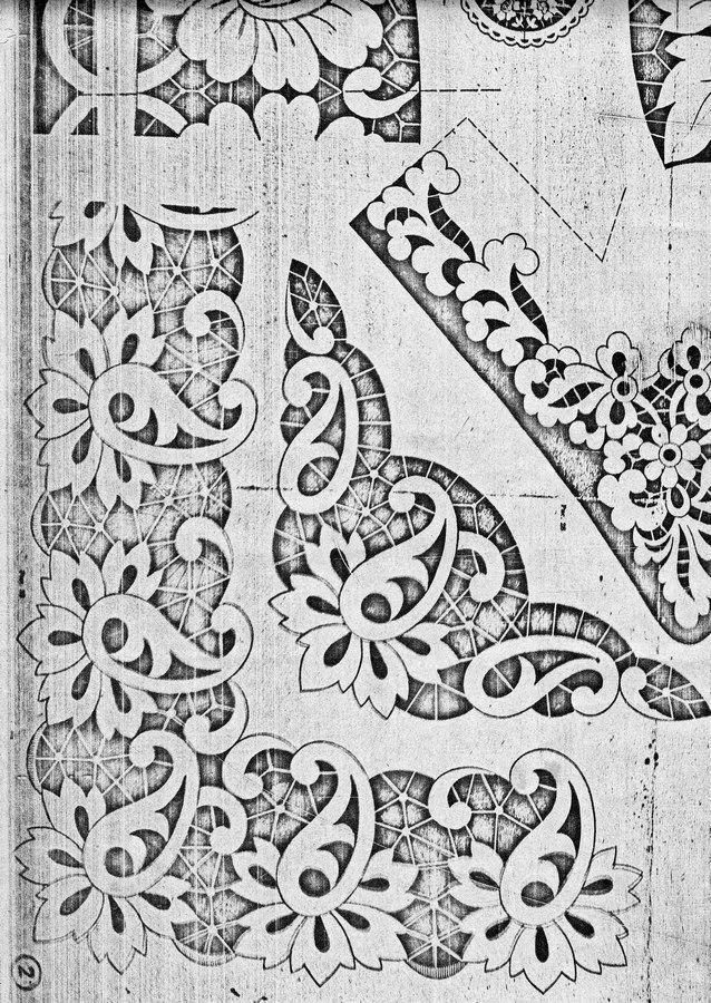 Сундучок: Схемы для вышивки - ришелье | Richelieu technika ...