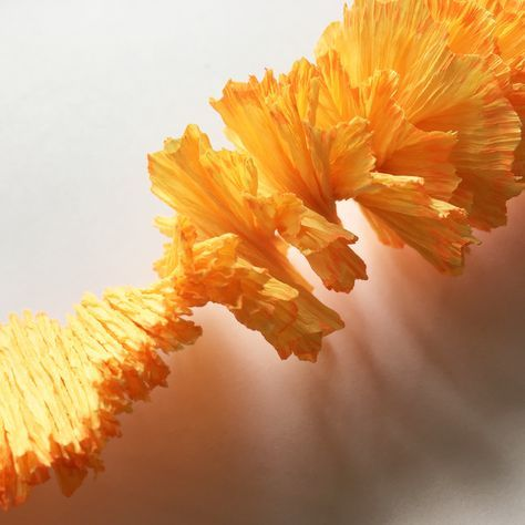 How To Make A Marigold Flowers From Crepe Paper Step By Tutorial Http