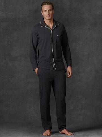 Brushed Jersey Pajama Set - Polo Ralph Lauren Underwear, Sleepwear & Socks - Ralph Lauren UK