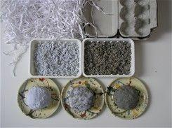 papier mache recipe shredded paper/egg carton + water + white glue