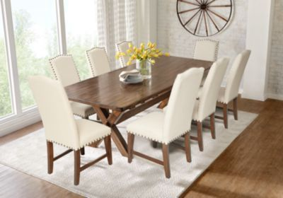Twin Lakes Brown 5 Pc 72 In Rectangle Dining Room Dining Room Sets Dark Wood Affordable Dining Room Sets Dining Room Makeover Affordable Dining Room