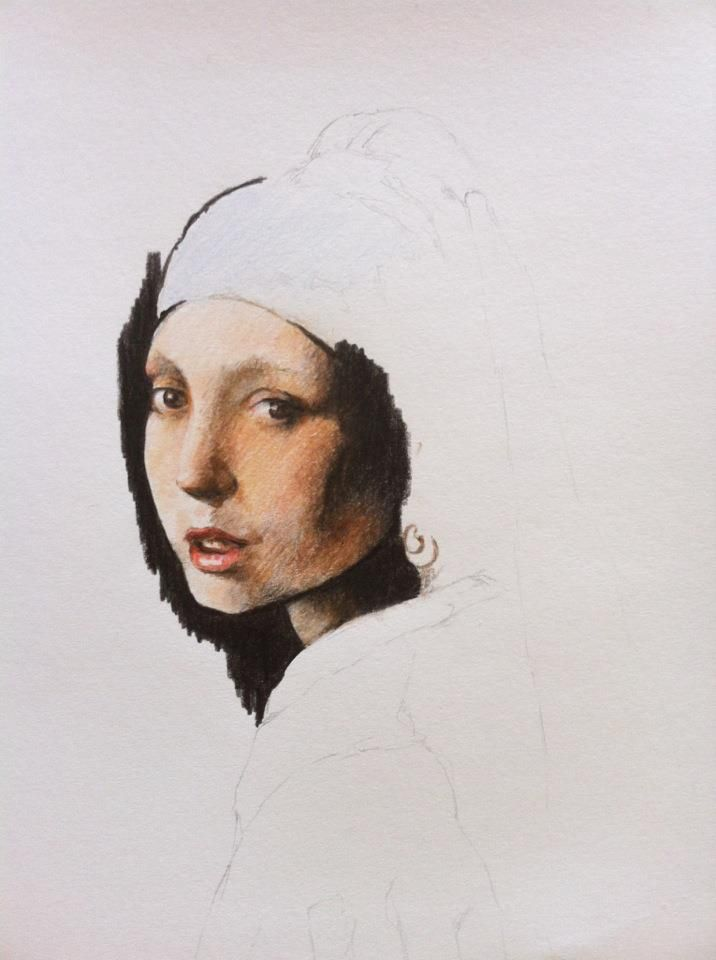 Girl With A Pearl Earring WIP 1 by I-FurGott.deviantart.com on @deviantART