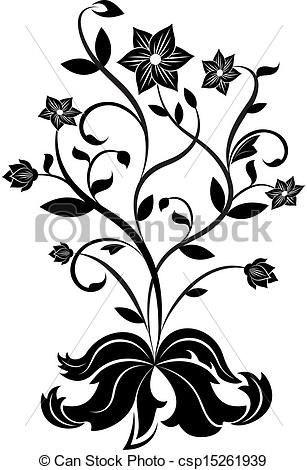 14++ Vector flower clipart black and white ideas in 2021