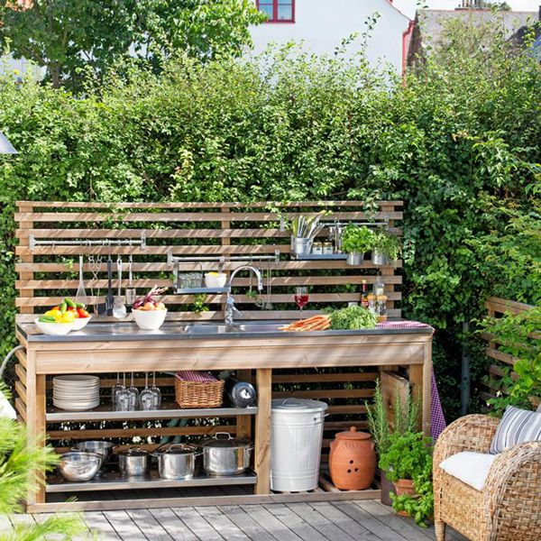 Design your space outdoor kitchen ideas kitchens for Simple outdoor kitchen plans