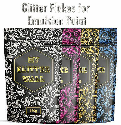 Glitter wall Additive paint for emulsion Bedroom Kitchen wallpaper 150Gram | eBay