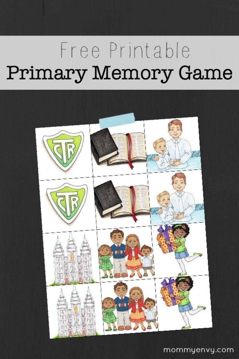 Free Printable Primary Memory Game | LDS y Chicas