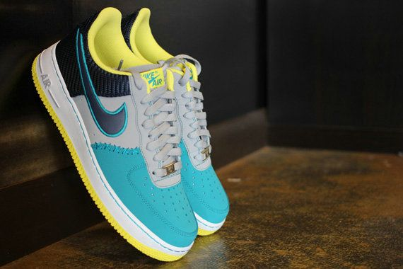 new arrival f173f 13c92 Nike Air Force 1 Low Wolf Grey Midnight Navy Tropical Teal 488298 039