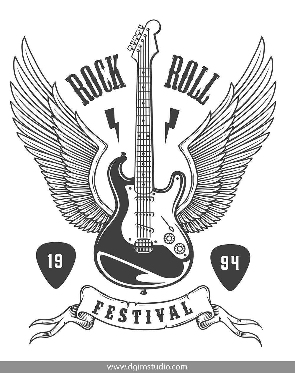Rock Roll Designs Bundle With Images Rock And Roll Rock And