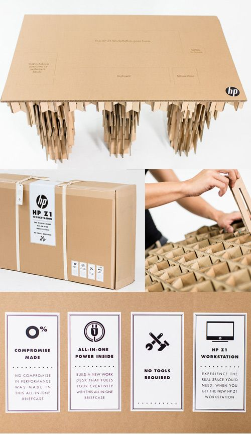 interesting office supplies. DIY Cardboard Desk By HP InterestingWholesale Office SuppliesDiy Interesting Supplies S