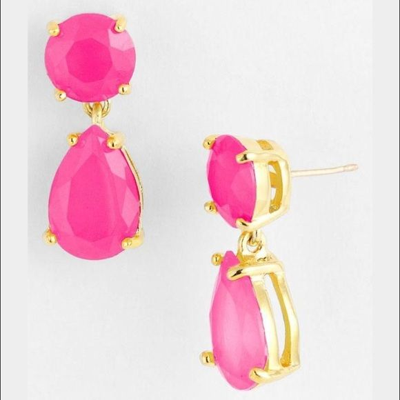 Nwt Kate Spade Pink Drop Earrings 100 Authentic In Perfect For Everyday Work Attire Weddings And