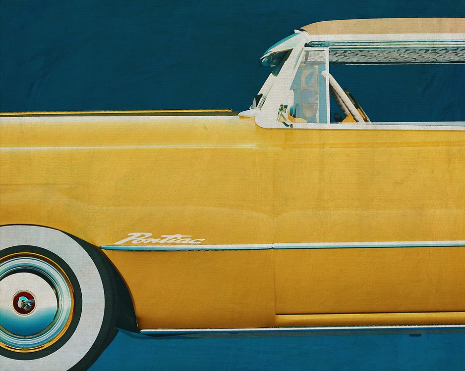 Painting of the side of a Pontiac Chieftain | Fine Art Imagery by Jan Keteleer